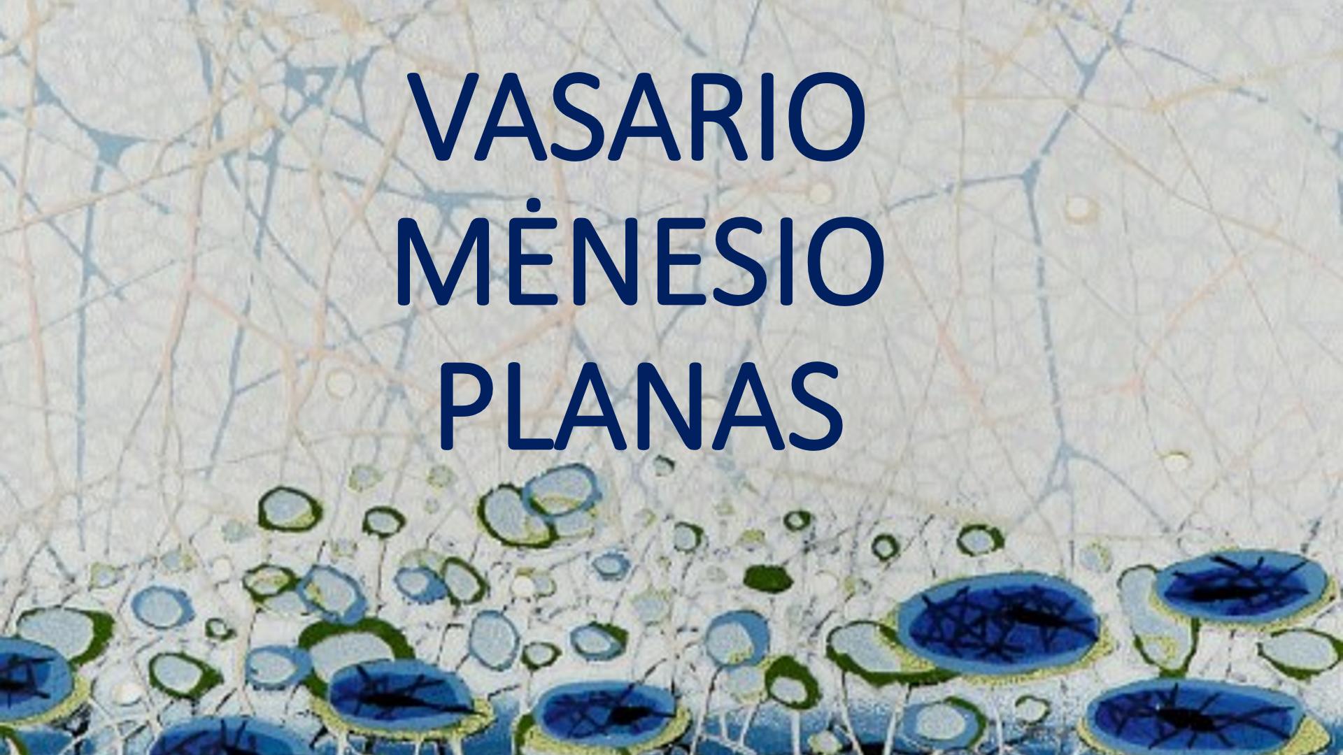 2018 m.  VASARIO  mėnesio planas